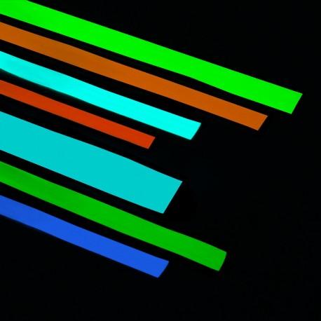 Nastro adesivo Fotoluminescente fosforescente si illumina al buio in 4 colori