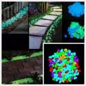 Sassi Multicolor in resina fluorescenti fosforescenti che si illuminano al buio