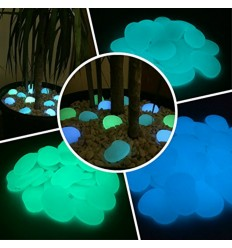Photo-luminescent fluorescent glow in the dark glass buttons