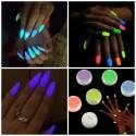 Polvere fluorescente luminescente che si illumina al buio per nail art manicure decorazione