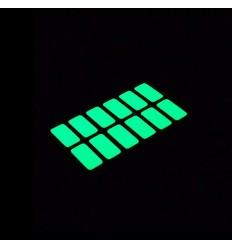 Adesivi rettangolari per l'interruttore della luce fluorescenti