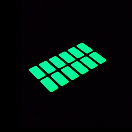 Fluorescent phosphorescent glow in the dark rectangular stickers for the light switch
