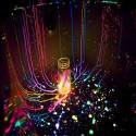 Vernice acrilica luminescente per decorazioni in tubetto