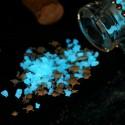 Fluorescent phosphorescent glow in the dark glass grit