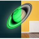 Adesivo pianeta anello Saturno luminescente fosforescente che si illumina al buio
