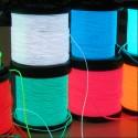1M Stripe LED luminoso El Wire semi rigido per formare figure