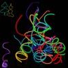 3 Mt stripe LED luminosa El Wire flessibile per decorazione vestiti e accessori party