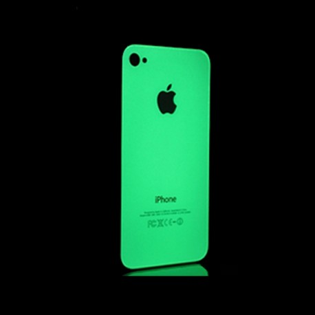 Fluorescent phosphorescent glow in the dark skin cover sticker for iPhone