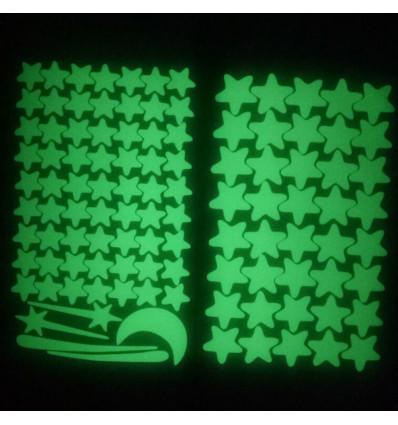 Glow in the dark stars stickers