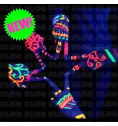 Fluorescent phosphorescent glow in the dark fashion bracelets