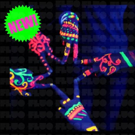 Vernice UV fluorescente per viso e corpo in 8 colori